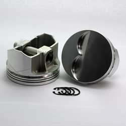 DSS Racing 2-2200-4000  327 SBC 2-FX Series  -5cc Flat Top  Piston Set. 4.000 bore